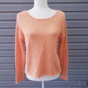 Lord & Taylor knit sweater peach Sz Medium